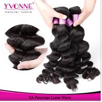 Loose Wave Peruvian Hair,4 Bundles Grade 5A Unprocessed Virgin Human Hair Weave,12-28 Inches Aliexpress Yvonne Hair,Color 1B