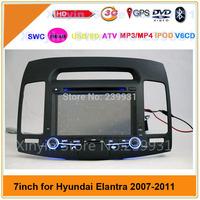 "7"" Car dvd player for Hyundai Elantra 2007 2008 2009 2010 2011 with GPS,Bluetooth,Ipod,TV,Radio,3G usb host"