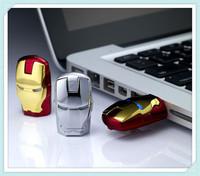 Hot ! new Cartoon Fashion Avengers Iron Man Metal usb flash drive  8GB 16GB 32GB 64GB USB 2.0 Flash Memory Stick Drive pen drive