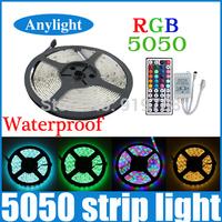 5M rgb led strip 5050 waterproof 300Leds SMD Light Flexible Strips Light +44 Keys IR controller WLED26