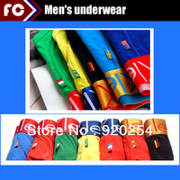 Boxers G 10cs/lot High Quality national flag sexy men boxers  men's soft underwear word cup for boy sir
