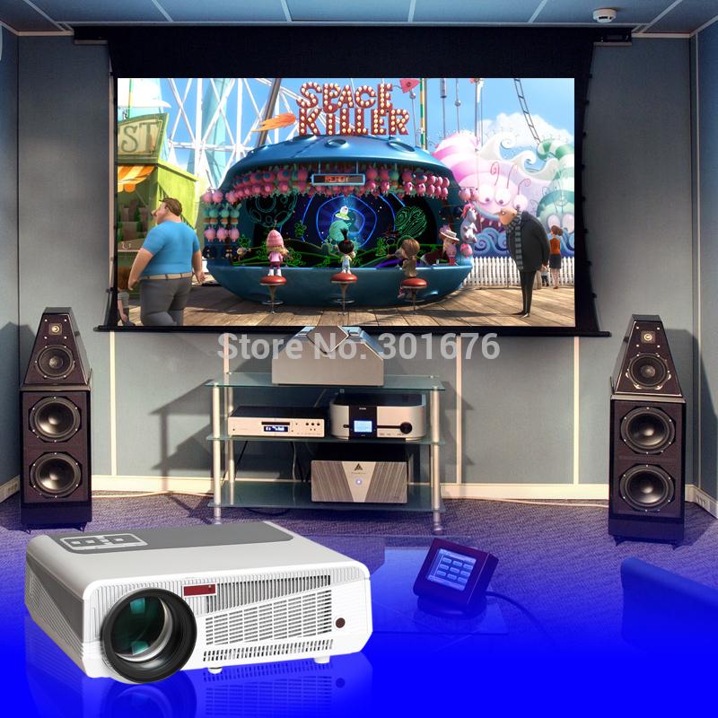 Spedizione gratuita hd led proiettore lcd 1280*800 risoluzione nativa multimediale home theater ciname 4.500 lumen vendita diretta in fabbrica