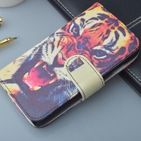 Luxury Pattern Leather Case Cover for LG Optimus L7 II Dual P715,with stand function and card slots, free shipping