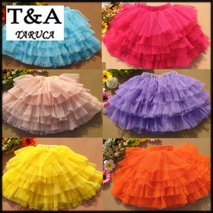 Новый 2014 мода летние девушки юбки бальное платье принцессы пушистые pettiskirts ребенок тюль слоистых пачки короткие юбки ну вечеринку одежда