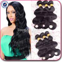 malaysian virgin hair body wave natural black hair 3 pcs free shipping malaysian body wave cheap malaysian hair  human hair
