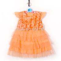 causal kids girls dresses 2015 Pearl Lace fly sleeve floral beads girls clothes fantasia vestido roupas infantil meninas vestir