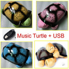 Turtle LED Night Light with USB Cable Music Light Mini Projector 4 Colors 4 Song Star Lamp baby lamp as creative gift(China (Mainland))