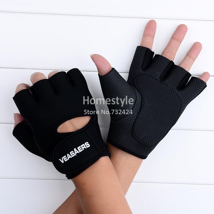 nuevo deporte ciclismo fitness gimnasio guantes de medio dedo de levantamiento de pesas guantes de entrenamiento ejercicio 18785