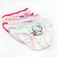girl  triangle hello kitty shorts children pants boxer briefs bread under bb cartoon underwear 12pcs/lot