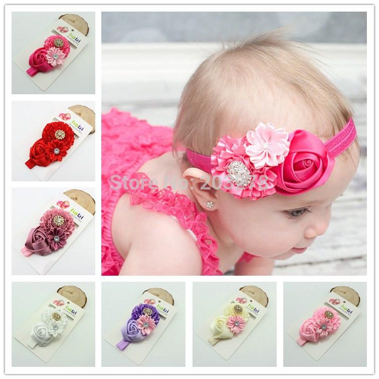 новейшие розовый цветок розы резинки лентой детские baby девушка детей Аксессуары бутик волосы луки