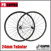 24mm Tubular carbon road bike wheels cycling bike wheelset 3k weave