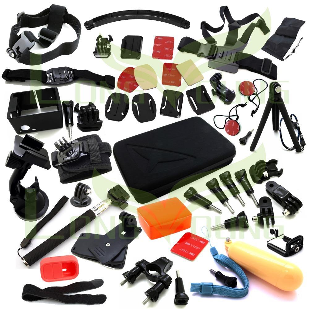 Go pro hero3 full gopro accessories mount digital mini cam tripod bag Chest head Floaty pole grip monopod for go pro 3 2 1 3+(China (Mainland))