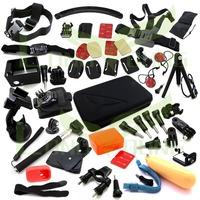 Go pro hero3 full gopro accessories mount digital mini cam tripod bag Chest head Floaty pole grip monopod for go pro 3 2 1 3+