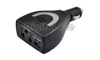 Newest Car power car inverter dc 12V to ac 220V AC Car Inverter Charger Adapter 75W with USB 5V black friday 1118
