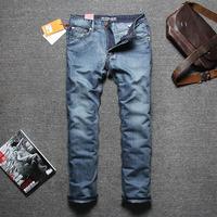 2015 Hot salel Men's Famous Brand Jeans,Thin breathable cotton business straight jeans pants, Plus size W28-W40