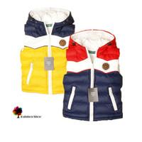 Spring and Autuam Children's Clothing Male Child Color Patchwork Block Decoration Cotton Vest