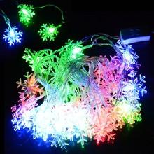 Decoración Luz 5M 28 LED del copo de nieve de Cuerdas de Navidad del partido de Navidad la luz de hadas de la boda Holiday luz de la lámpara 100-240V de la UE Plug TK1337Z(China (Mainland))