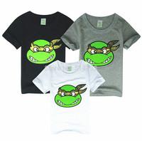 New 2014 boys Teenage Mutant Ninja Turtles t shirt girls nova top t-shirt for kids baby summer cartoon children t shirt clothing