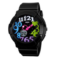 2014 New Fashion Watches Digital Watch 2 Time Zone Quartz Chronograph Jelly Silicone 30M Waterproof Swim LED Wristwatches