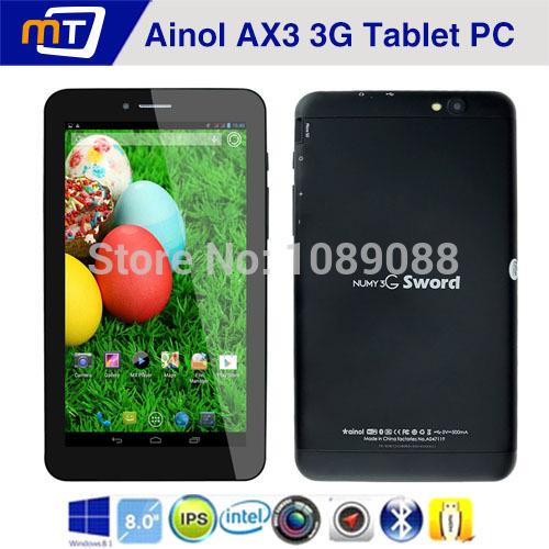 7 pollici ainol ax3 quad core 3g chiamata telefonica tablet pc Android 4.2 mt8382 costruire in 3g gps fm bluetooth hdmi wifi 1g 16g 1024*600