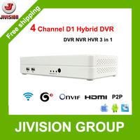 ONVIF 4CH DVR Mini Hybrid DVR NVR HVR HDMI 1080P Full D1 960H P2P Cloud H.264 network video recorder 4 channel mini dvr recorder