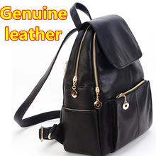 Mochila Hot Sale New 2014 Sale Backpack Women Genuine Leather Backpacks Travel Rucksack School Bag Schoolbag Derma Packsack(China (Mainland))
