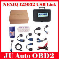 2014 Professional NEXIQ 125032 USB Link With All Adapters For Diesel Truck Diagnostic Tool Nexiq With Plastic Box DHL Shipping