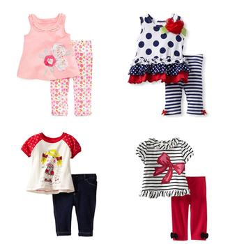 18 м ~ 6 т высокое качество младенца хлопка дети девушка малыша 2 шт. дети костюм ...