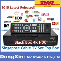2015 Singapore starhub tv Receiver box Blackbox 4K HDC Qbox 4000 hdc upgrade from Blackbox hd-C808 starhub cable naga3
