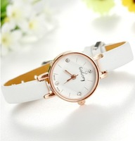 Hot sale Women Watches Fashion Leather hour Clock Small Round Dial Crystals watches Girl Ladies Wrist watch relogio feminino
