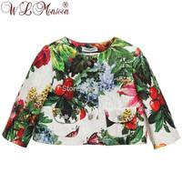 2014 autumn new brand girls digital print coat, high quality children coat, outerwear&coats, designer kids girls' jackets, 2-8Y