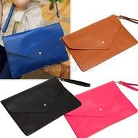 Women Envelope Clutch Shoulder Handbag Lady Purse Messenger HOBO Bag PU Leather Shoulder Hand Bag b8 3138