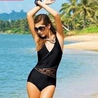New Sexy 2014 Plus size swimwear Women one piece swimsuit push up swiming wear  bathing suit beachwear