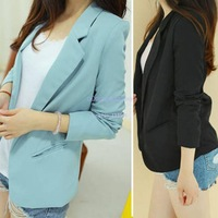 Good New Fashion Lapel Candy Colorall-match casual candy color long-sleeve women suit coat lady slim jackets outwear B16 16828