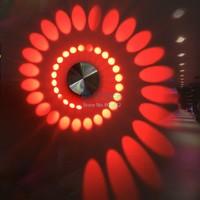 Modern Aisle Bedroom Corridor Porch Background Light Spiral Shape LED Light Aluminum Wall Lamp Luminous Lamps 7 Colors b6