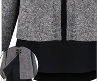 Promotion European American Women Casual Patchwork Shirt For Ladies Women Plus Sweater Chiffon Women Dolman Shirt SV17 CB031435