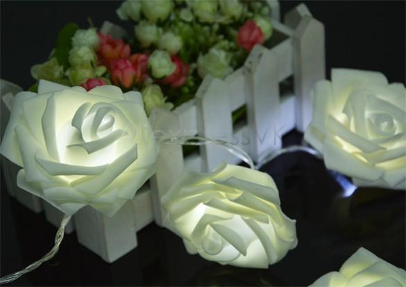 New 2014 20 LED Rose Festival Net String Light Fairy Lights Christmas Xmas Party Wedding 30(China (Mainland))
