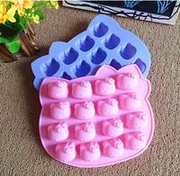 Spot wholesale silicone cake mold 16 even hello kitty silicone mold nonstick silicone cake mold