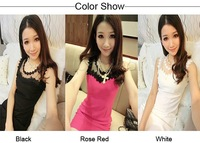 2015 New Arrival Women Summer dress Slim Tunic print Floral dresses Party Plus Size sexy bodycon dress 3 Colors  SV22 CB033126