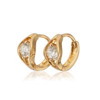 Aliexpress Sale New Children 18K Gold Plated Earrings Zircon Baby CC Hoop Earring Brinco Fashion Jewelry Free shipping 13E18K-87