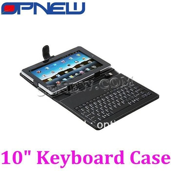 "Freeshipping for 10inch USB Keyboard & Leather Cover Case Bracket Bag for 10"" Tablet PC MID PDA Sanei Ainol Cube PiPo Onda etc"
