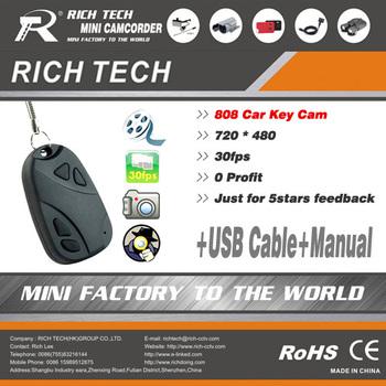 No.LPN0001 Top sell  808 car key camera/surveillance 808 keychain CCTV camera+720x480avi video+Free shipping
