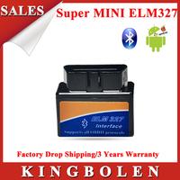2015 High Performance Auto Diagnostic Tool Super Mini ELM 327 Bluetooth Supports All OBD2 Protocols ELM327