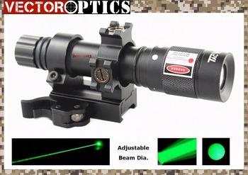 Vector Optics Hunting Green Laser Designator Flashlight Illuminator with Barrel Mount , Rat tail Switch , Battery , Chagrer