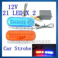 21 LED X 2 12V Car Truck Lamp Beacon Emergency Strobe Flash Light