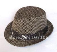Children's Caps Grid Hats checked Fedoras Hat cap For kid Fashion Headgears Headwear Brown Black Colors