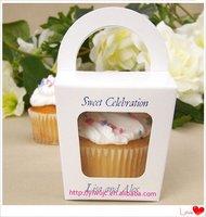 Wedding Tote Cupcake Boxes, Party Treats Box , Favor Box(JCO-277)