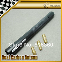 "Mazdaspeed Carbon Short Aerial Car Antenna Matt Back 12CM/4.8"" MAZDA3 MAZDA6 MX5 CX5 CX7 323 626 CX9 RX8"