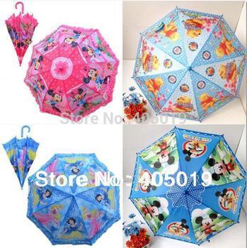 Free Express Cartoon Umbrellas for Boys & Girls Anti-UV Parasol Mixable Kitty Princess Mickey Minnie Ben Car Spiderman Toy Story