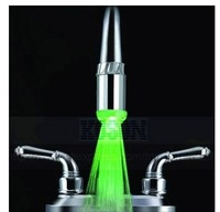 25% Off Promotion (No battery) led faucet lights According to water temperature change three colors (green blue red) Free